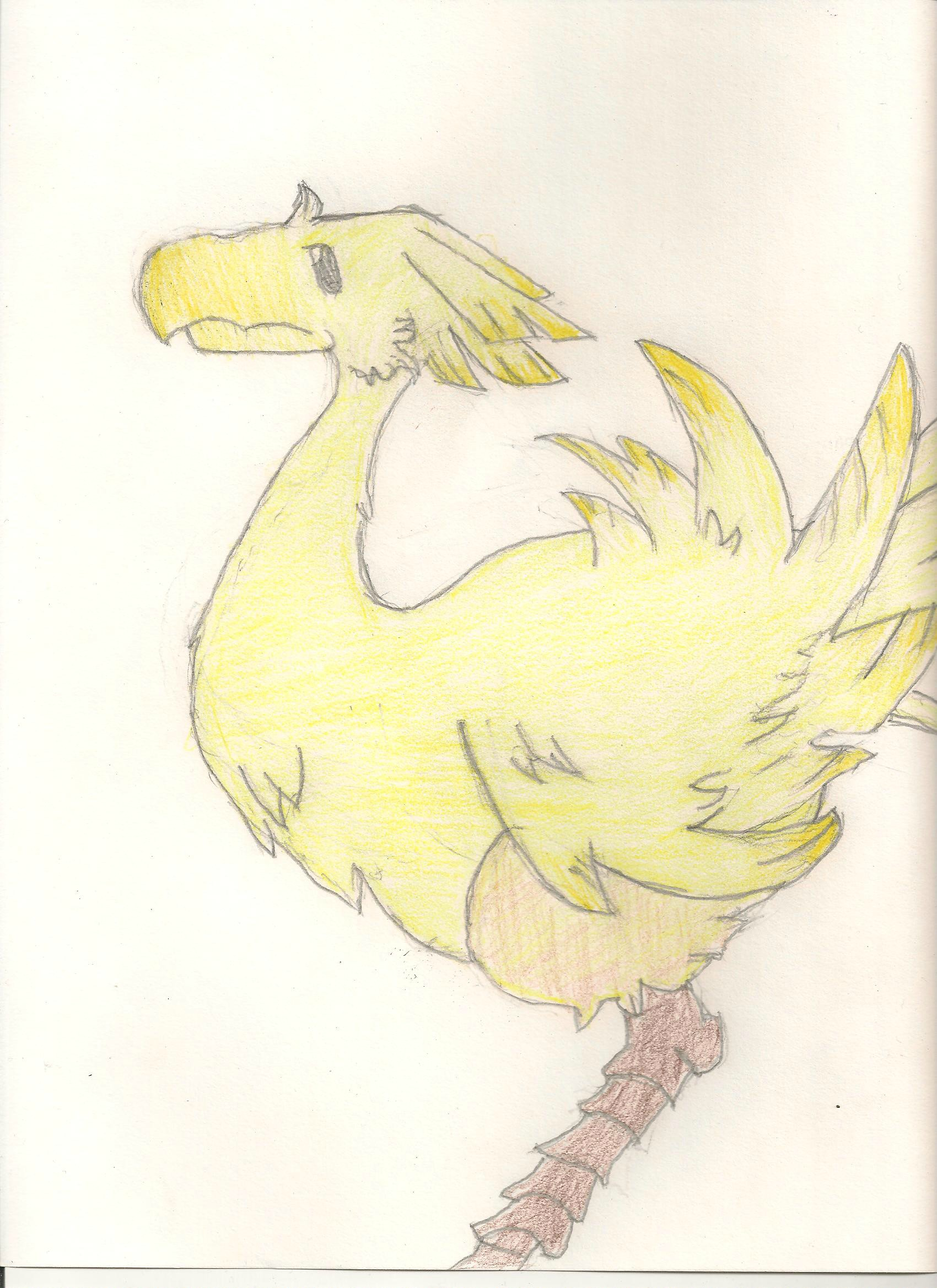 In the meantime, here's a drawing of a Chocobo I made a while ago :D